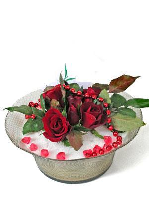 Samsun online çiçekçi , çiçek siparişi  EN ÇOK Sevenlere 7 adet kirmizi gül mika yada cam tanzim