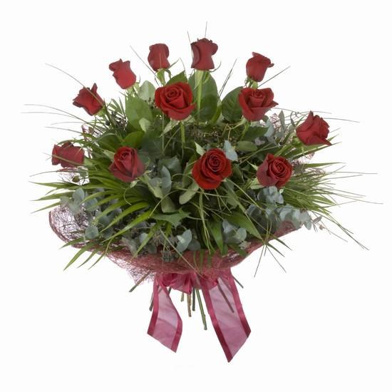 Etkileyici buket 11 adet kirmizi gül buketi  Samsun kaliteli taze ve ucuz çiçekler