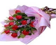 11 adet kirmizi güllerden görsel buket  Samsun online çiçek gönderme sipariş