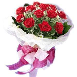 Samsun 14 şubat sevgililer günü çiçek  11 adet kırmızı güllerden buket modeli