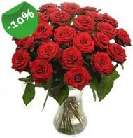 Vazo içerisinde 25 adet kırmızı gül  Samsun İnternetten çiçek siparişi