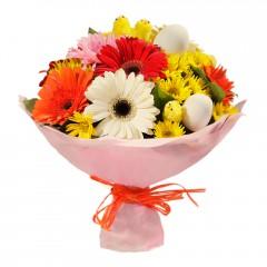 Karışık mevsim buketi Mevsimsel çiçek  Samsun yurtiçi ve yurtdışı çiçek siparişi
