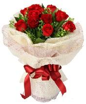 12 adet kırmızı gül buketi  Samsun çiçekçi telefonları