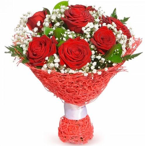 7 adet kırmızı gül buketi  Samsun güvenli kaliteli hızlı çiçek