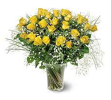 Samsun çiçek mağazası , çiçekçi adresleri  15 adet sarigül mika yada cam vazoda