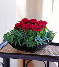 Samsun çiçek mağazası , çiçekçi adresleri  10 adet kare mika yada cam vazoda gül tanzim