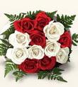 Samsun anneler günü çiçek yolla  10 adet kirmizi beyaz güller - anneler günü için ideal seçimdir -