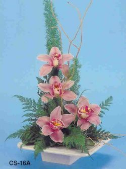 Samsun uluslararası çiçek gönderme  vazoda 4 adet orkide