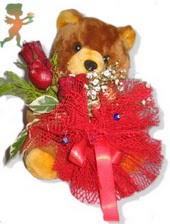 oyuncak ayi ve gül tanzim  Samsun güvenli kaliteli hızlı çiçek