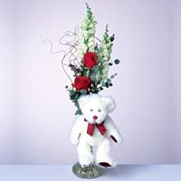 2 adet gül ve panda özel  Samsun çiçek servisi , çiçekçi adresleri