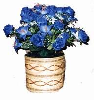 yapay mavi çiçek sepeti  Samsun çiçek gönderme sitemiz güvenlidir