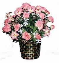 yapay karisik çiçek sepeti  Samsun çiçek , çiçekçi , çiçekçilik