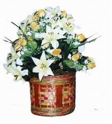 yapay karisik çiçek sepeti   Samsun çiçek gönderme sitemiz güvenlidir
