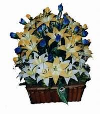 yapay karisik çiçek sepeti   Samsun cicekciler , cicek siparisi