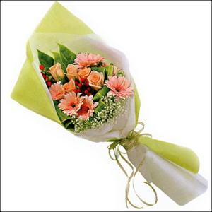 sade güllü buket demeti  Samsun çiçek servisi , çiçekçi adresleri