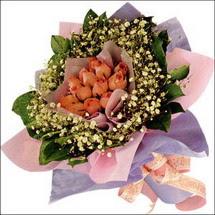 11  adet  gül ve   elyaflar   Samsun çiçek servisi , çiçekçi adresleri