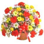 karisik renkli çiçek sepet   Samsun online çiçek gönderme sipariş
