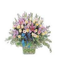 sepette kazablanka ve güller   Samsun cicekciler , cicek siparisi