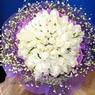 71 adet beyaz gül buketi   Samsun anneler günü çiçek yolla