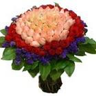 71 adet renkli gül buketi   Samsun hediye sevgilime hediye çiçek