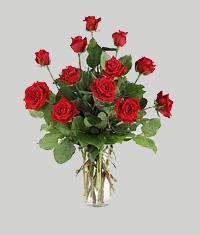 Samsun çiçek gönderme sitemiz güvenlidir  11 adet kirmizi gül vazo halinde