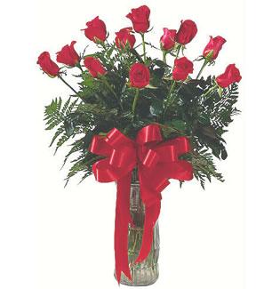 12 adet gül cam içerisinde  Samsun çiçek gönderme sitemiz güvenlidir