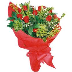 11 adet gül buketi sade ve görsel  Samsun çiçek gönderme sitemiz güvenlidir