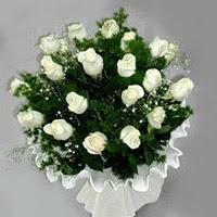 Samsun çiçek online çiçek siparişi  11 adet beyaz gül buketi ve bembeyaz amnbalaj