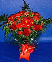 Samsun çiçek online çiçek siparişi  3 adet kirmizi gül ve kir çiçekleri buketi