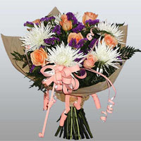 güller ve kir çiçekleri demeti   Samsun güvenli kaliteli hızlı çiçek