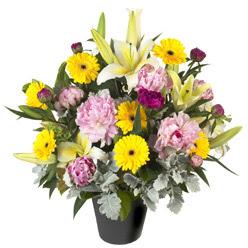 karisik mevsim çiçeklerinden vazo tanzimi  Samsun çiçek yolla