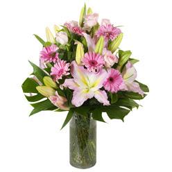 vazo içerisinde karisik mevsim çiçekleri  Samsun yurtiçi ve yurtdışı çiçek siparişi