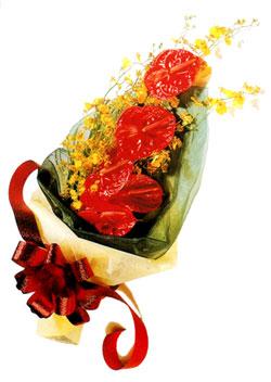 özel 5 adet antorium buketi   Samsun online çiçek gönderme sipariş
