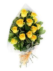 Samsun çiçek siparişi sitesi  12 li sari gül buketi.