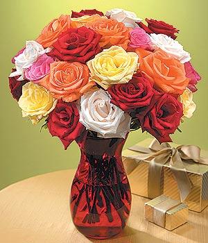 Samsun çiçekçi telefonları  13 adet renkli gül