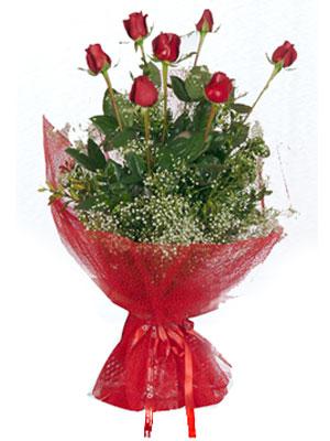Samsun ucuz çiçek gönder  7 adet gülden buket görsel sik sadelik