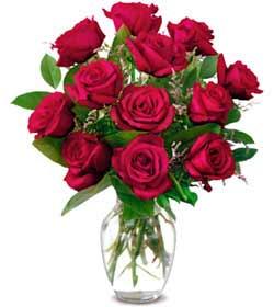 Samsun çiçek yolla , çiçek gönder , çiçekçi   1 düzine kirmizi gül sevenlere özel vazo gülleri