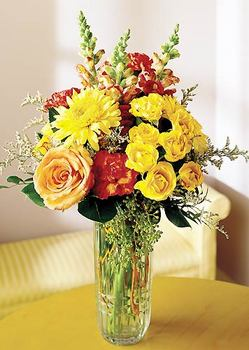 Samsun çiçek gönderme  mika yada cam içerisinde karisik mevsim çiçekleri