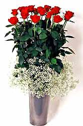 Samsun İnternetten çiçek siparişi  9 adet kirmizi gül cam yada mika vazoda