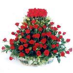 Samsun çiçekçi mağazası  41 adet kirmizi gülden sepet tanzimi