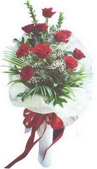 Samsun çiçek online çiçek siparişi  10 adet kirmizi gülden buket tanzimi özel anlara