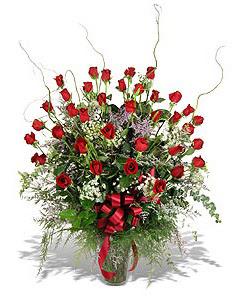 Samsun çiçek mağazası , çiçekçi adresleri  33 adet kirmizi gül vazo içerisinde