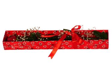 Samsun uluslararası çiçek gönderme  kutu içerisinde 1 adet kirmizi gül