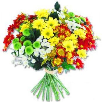 Kir çiçeklerinden buket modeli  Samsun çiçek yolla , çiçek gönder , çiçekçi