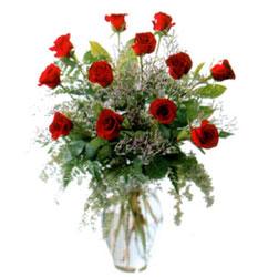 Vazo içerisinde 11 kirmizi gül  Samsun online çiçekçi , çiçek siparişi