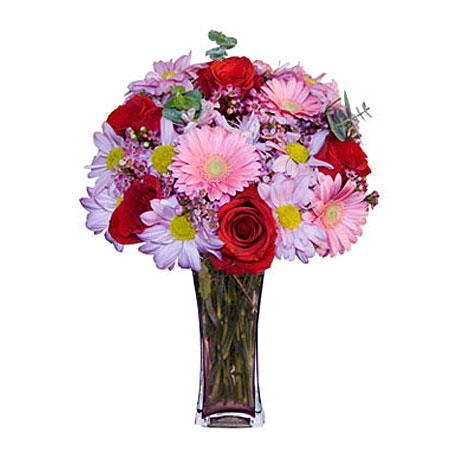Görsel hediye karisik cam mevsim demeti  Samsun çiçek servisi , çiçekçi adresleri