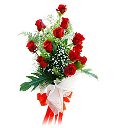 11 adet kirmizi güllerden görsel sölen buket  Samsun online çiçekçi , çiçek siparişi