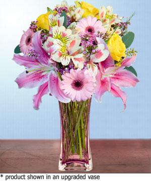 Anneme hediye karisik cam mevsim demeti  Samsun yurtiçi ve yurtdışı çiçek siparişi