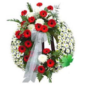 Cenaze çelengi cenaze çiçek modeli  Samsun çiçek yolla