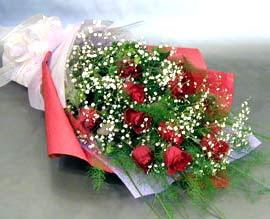 10 adet kirmizi gül çiçegi gönder  Samsun çiçekçi telefonları